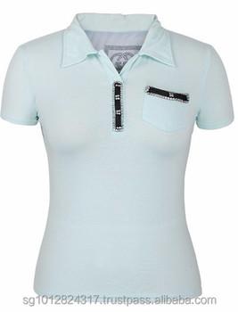 Very sexy polo shirt girl