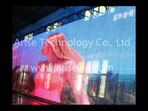 LED Media Facade, Full Color LED Mesh Screen, LED Mesh Display, LED Curtain, LED curtain screen, LED