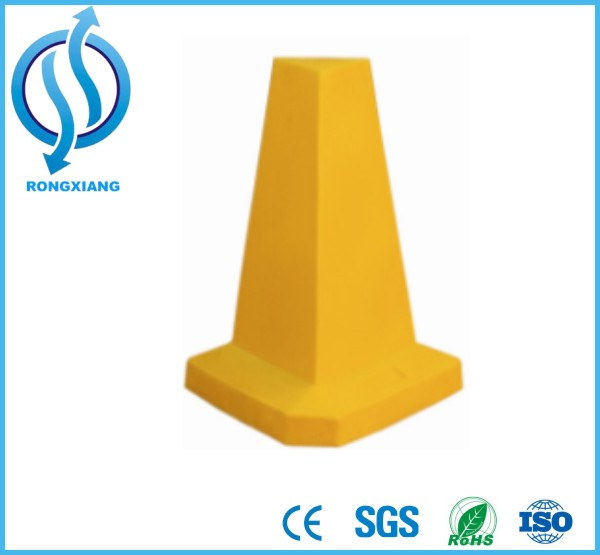 Plain Orange PE Pyramid Cone Square Cone and Rhombic Cone for Traffic Safety Equipment