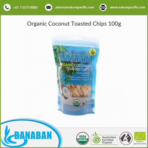 Organic Coconut Toasted Chips with No Added Sugar and No Added Preservatives