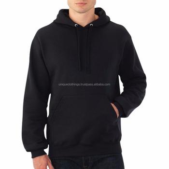 Plain Black Pullover Hoodie a7259a889dd7