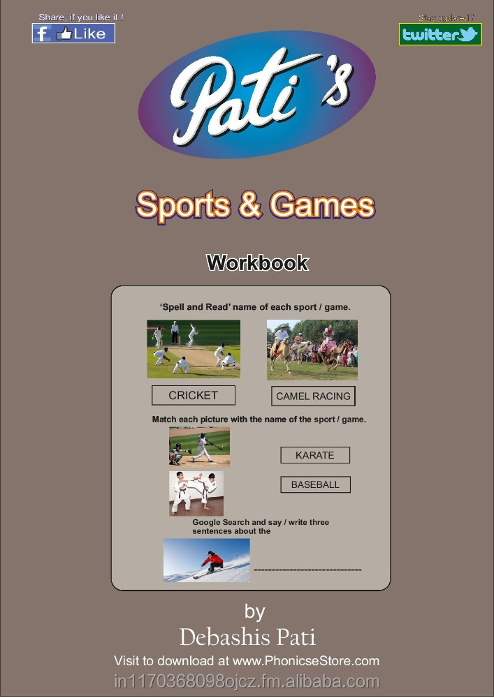 Pati's Sports & Games work books for children - English