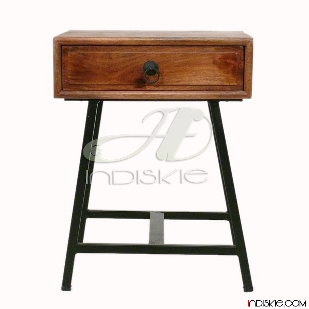 End Table Wooden Nested Table Industrial Tray Table Set Of 2 Side Table  Living Room Table Vintage Industrial - Buy Side Table Industrial Bed Side  ...