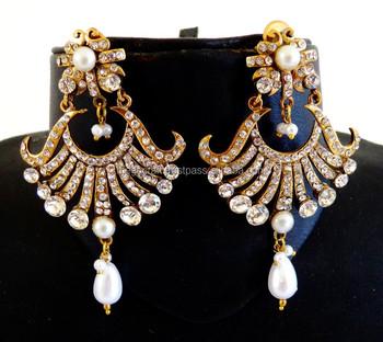 Indian wholesale Victorian Earrings-Rhinestone Crystal earrings -Imitation  earrings -Victorian jewelry, View victorian earrings, ELEGANCE BY MEGH