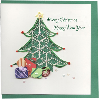 Handmade Christmas Greeting Cards Size 15x15cm Merry Christmas And