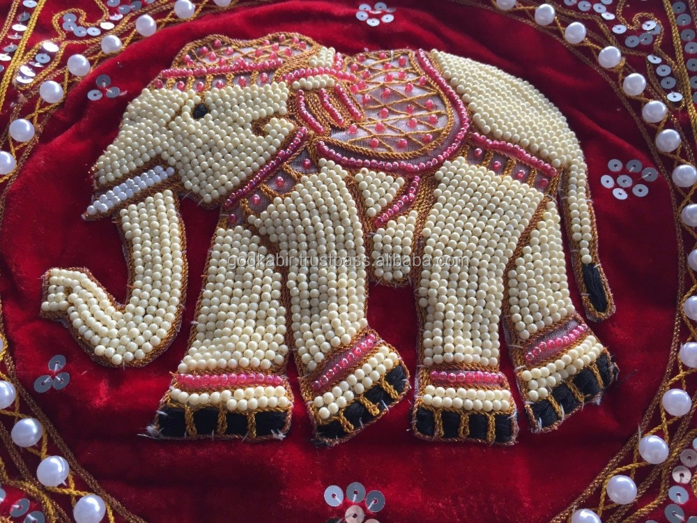 Terciopelo Elefante Tailandés Perla Almohada Cojín Lentejuelas ...