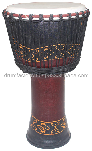 PVC Rope Djembe, ESPPVC-8A. djembe percussion music instrument.