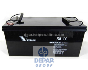 Vision 12V 200Ah Solar Gel Battery- Deep Cycle solimax 6FM200D-X