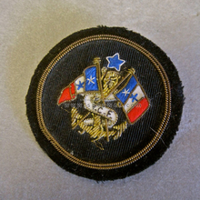 Blazer crests brooch insignia preppy nautical flags | Hand embroidery | Anchor Gold Bullion wire Pocket badges