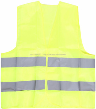 Safety for Safety 2 Strip Fabric Jacket ZA110 REFLECTIVE TAPE WORKWEAR PROTECTION ROAD NET MESH 2 STRIP