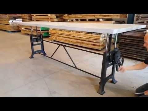 Get Quotations · Adjustable Height Crank Table | Hoogte Verstelbare Tafel |  H?henverstellbare Tisch