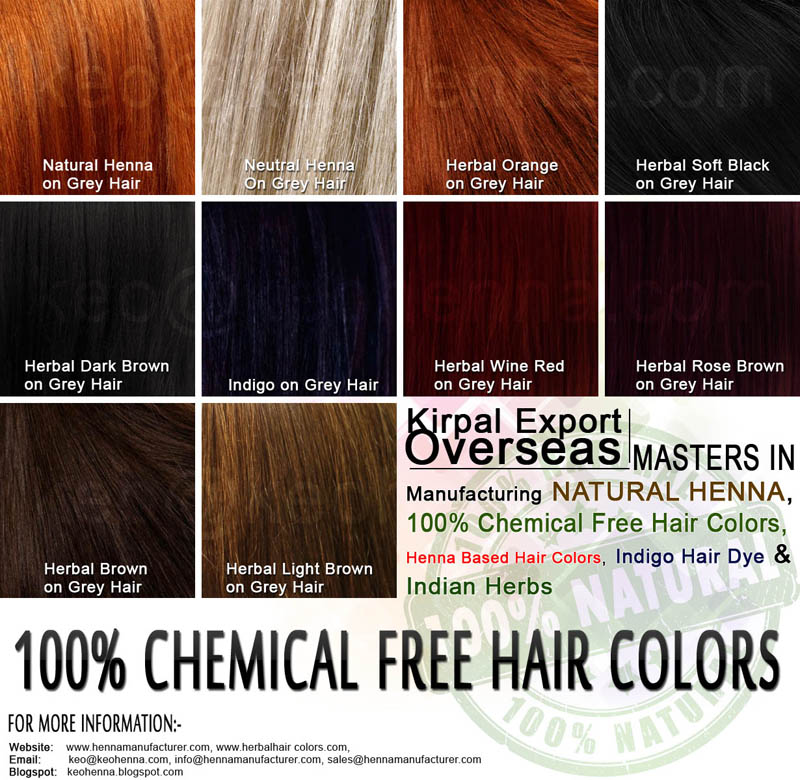 Henna Hair Colors Chart Buy Henna Hair Colors Chartpowder Hair