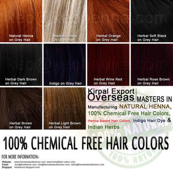 Henna Hair Colors Chart