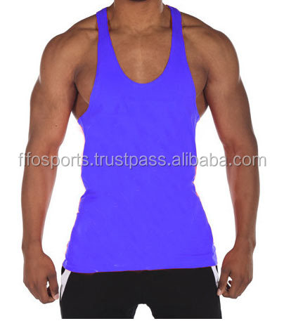 221d5c6c3f9b18 Stripe Y Back Tank Tops Gym Singlets Wholesale - Buy Blank Gym Mens ...