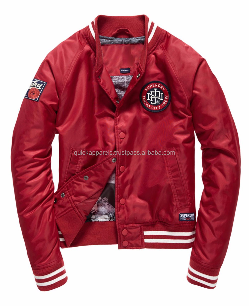 Custom Satin Varsity Jacket / Wholesale Blank Varsity Jackets / Cheap letterman jacket baseball jacket