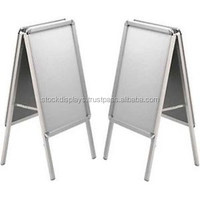 Aluminum Outdoor Poster Stand, double side clip sign board, pavement sign