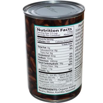 Canned Kidney Beans Nutrition Nutritionwalls