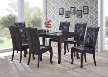 7 PCS DINING SET , MODERN DINING SET , CHAIRS , PARSON CHAIR