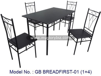 New Design Durable Dining Sets Made In Metal With Table And Chairs