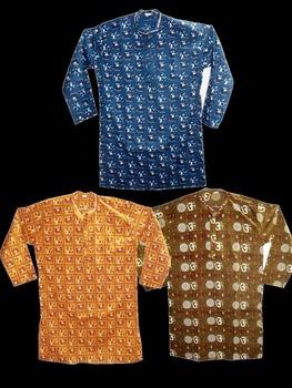 New Indian Printed Men Kurta Boho Gypsy GauzI Cotton Casual Yoga T Shirt Designer Mens