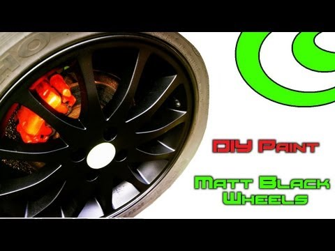 DIY Paint �� Respray of Car Alloy Wheels/Rims in Matt Black ��