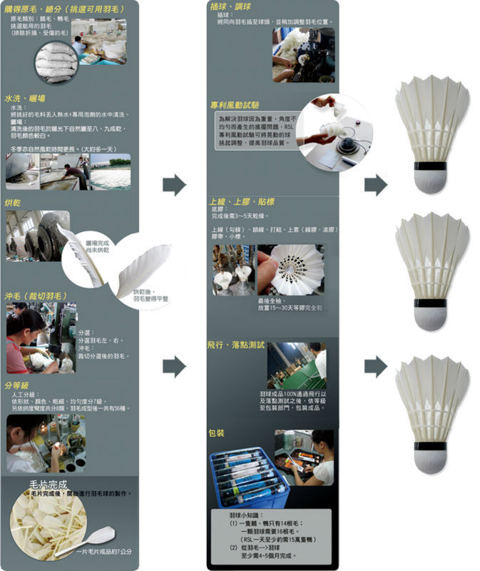 Proffesional made oem feather parts of shuttlecock in badminton