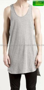026eb65eed Gray Mens Boys Tank Top Sando Sports Fitness Summer Cotton Plain Sleeveless  Logo Print High Quality