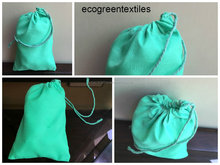 Lime Green Single Drawstring Muslin Bag (100% Cotton). HIGH QUALITY BAG