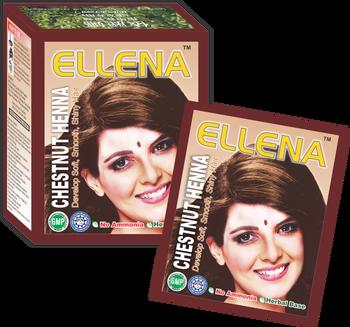 Ellena Chestnut Henna Warna Rambut Buy Ellena Chestnut Henna Warna