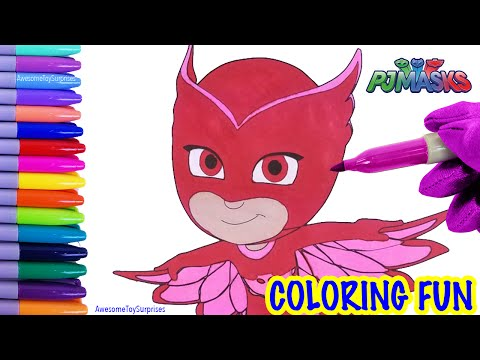 PJ Masks Owlette Coloring Page! Fun Coloring Activity for Kids Toddlers Children