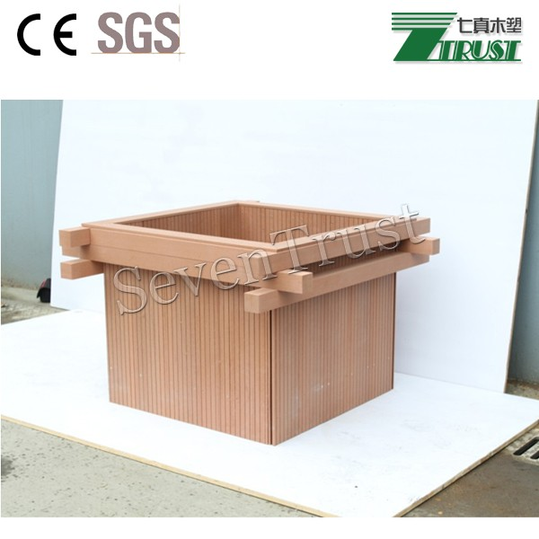 High Street Market Architectural Trim Wainscoting: Outdoor Wpc Composite Wood Street Flower Box/waterproof