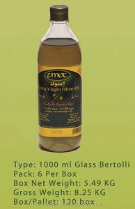 EMOC Extra Virgin Olive Oil Glass Bertolli 1 L