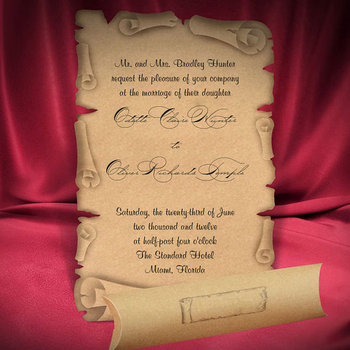 Scroll Wedding Invitation Card Medieval Style Old Craft Paper Buy