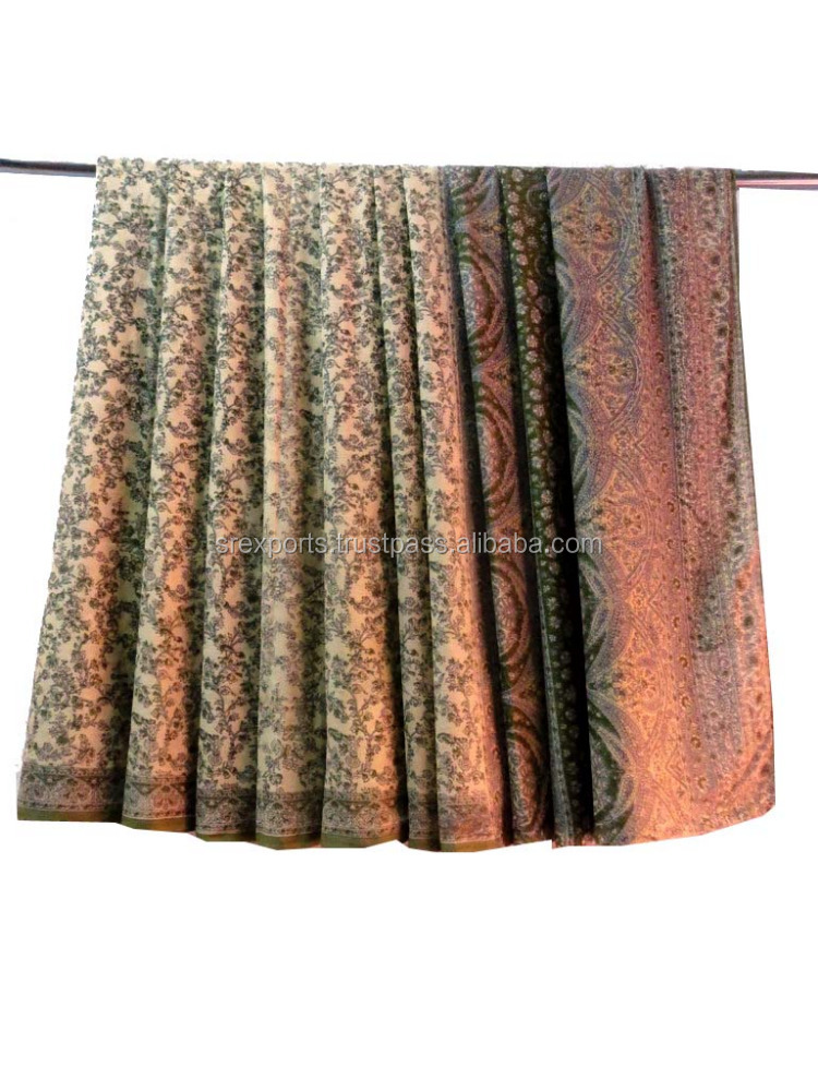 Indian Handmade 100% Pure Silk Saree Traditional Vintage Used Fabric Ethnic Cultural Silk Sari