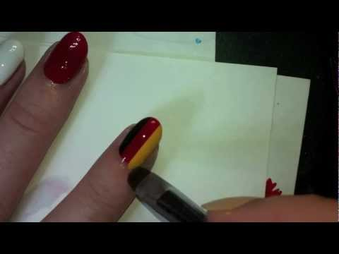 German Flag Nail Art Tutorial