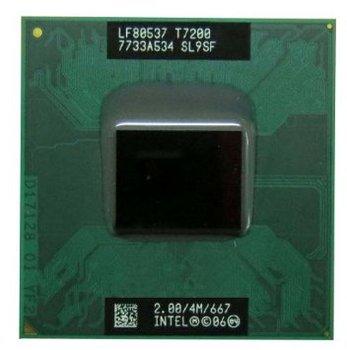 Genuine Intel Core 2 Duo T7200 20 Sl9sf Cpu Original Official