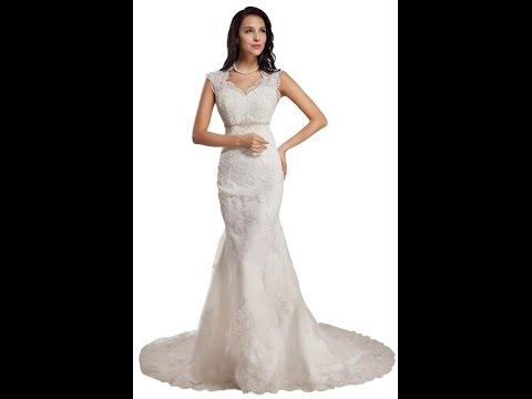 GEORGE BRIDE Sleeveless Lace Over Satin Chapel Train | Sexy Wedding Dresses 2015