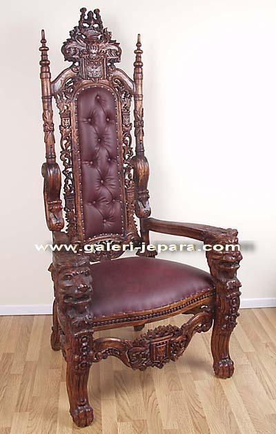 Antiguos de la reproducci n muebles trono rey le n silla for Muebles rey sillas