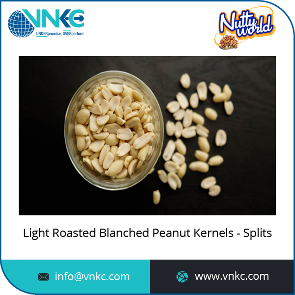 High Quality Excellent Material Light Roasted Blanched Peanut Split Kernel