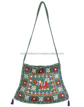 Vintage Banjara Sling Bag Gypsy Boho Tote Tribal Hathi Style Embroidered  Shoulder Bag Handmade Purse Vintage 004b3c3615c6f