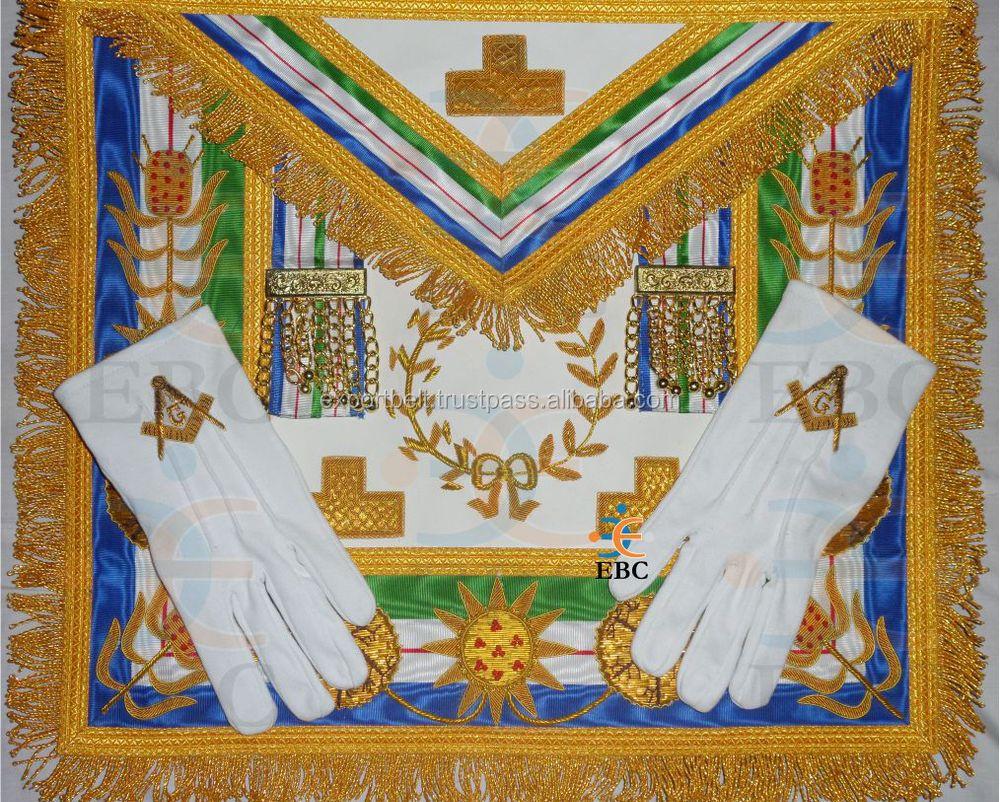 Masonic Apron,Grand Master Apron Hand Embroidery - Buy Master Mason  Apron,Hand Embroidered Masonic Master Mason Apron,Embroidery Designs Apron  Product