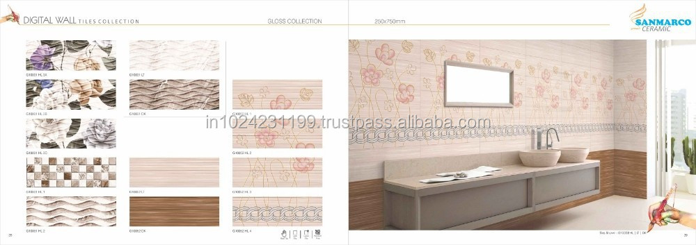 Popular Fashiion Designs Wall Tiles 250x750mm For Living Room From