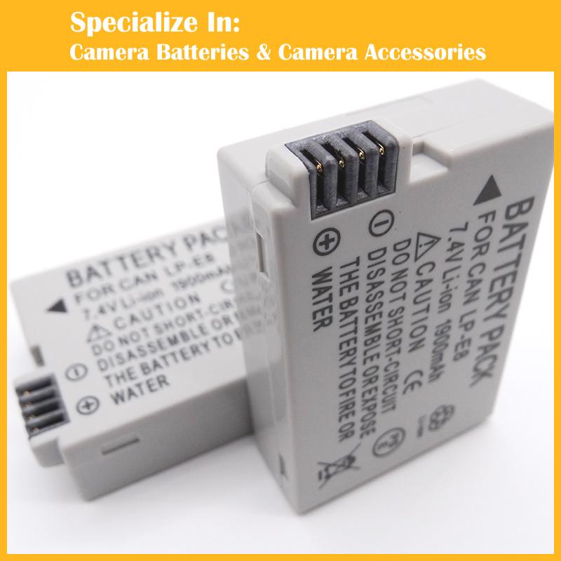 Аккумулятора lp цифровой камеры-e8 LPE8 для Canon EOS 550D EOS 600D полностью декодированного