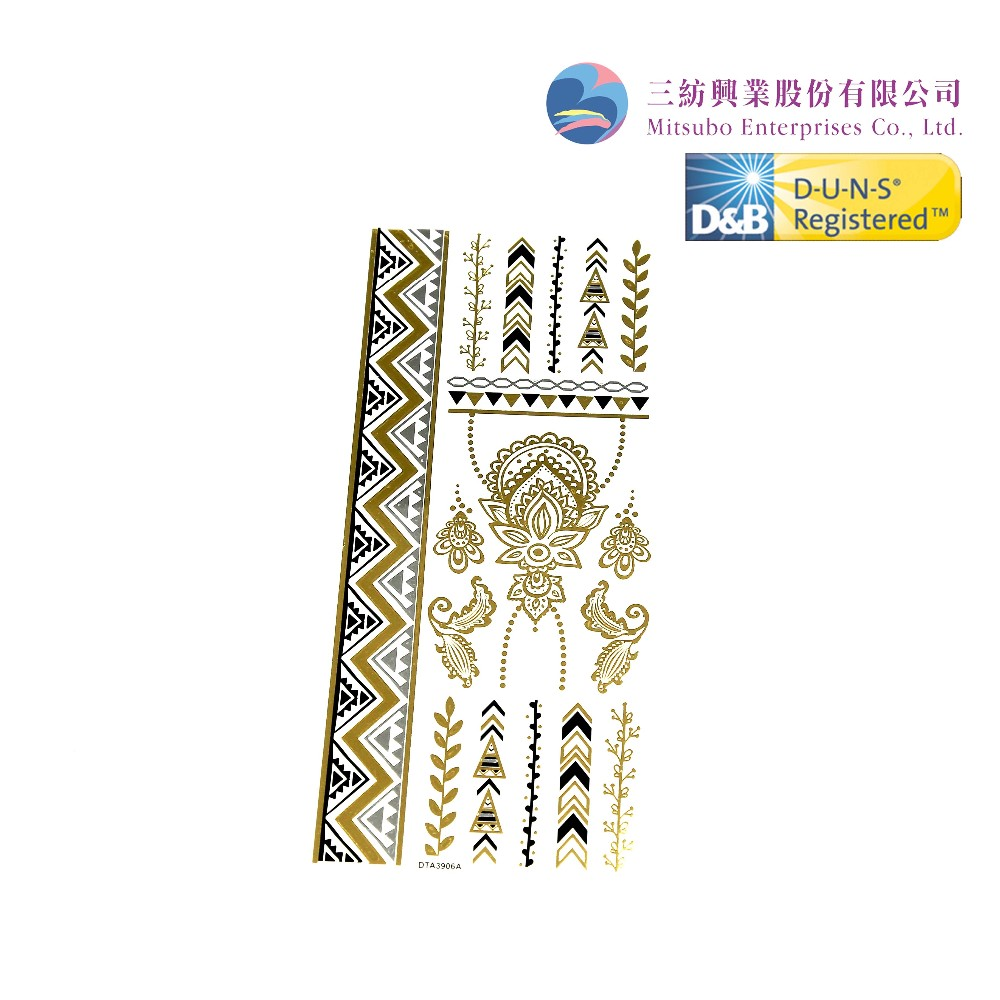 Gold Temporary Tattoos Custom Face Jewels Crystal Face Tattoo Stickers