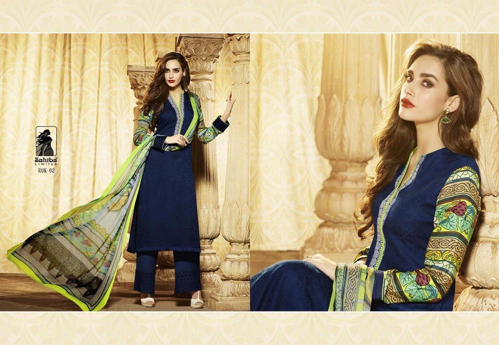 3f85412e45 Sahiba Ruksar Collection,Pashmina Digital Printed Suit - Buy ...
