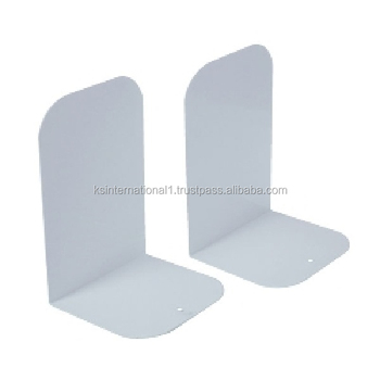 White L Shape Metal Library Bookends