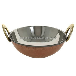 stainless steel Copper Polish Balti Dish