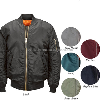 Mens Flight Jacket/types Of Fabric Material Flight Jacket Bomber ...
