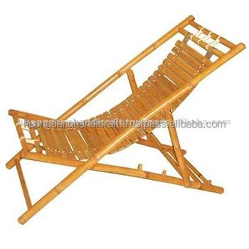 Beach Lounge Folding Chair Perdurable Bamboo Relax Chair