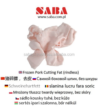 Frozen Cutting Fat | Pork Fat from Poland